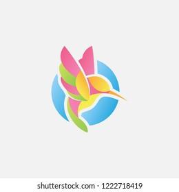 colibri logo design inspiration. colibri illustration