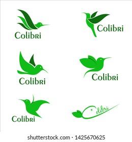Colibri Style Logo Vector Art