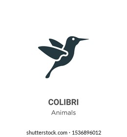 Colibri vector icon on white background. Flat vector colibri icon symbol sign from modern animals collection for mobile concept and web apps design.