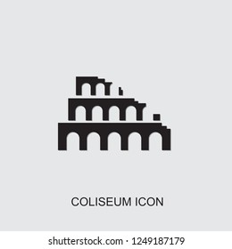 Coliseum icon. filled Coliseum icon from architecture collection. Use for web, mobile, infographics and UI/UX elements. Trendy Coliseum icon.