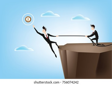 Collaboration for Success. Business vector illustration