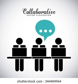 collaborative people design, vector illustration eps10 graphic