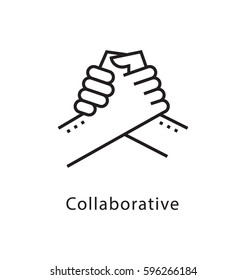 Collaborative Vector Line Icon