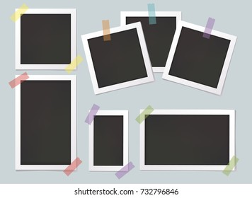 Collage of photo frames. Vector illustration