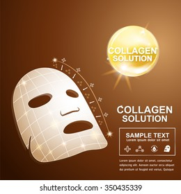 Collagen and Serum Background Concept Cosmetic for Skin.