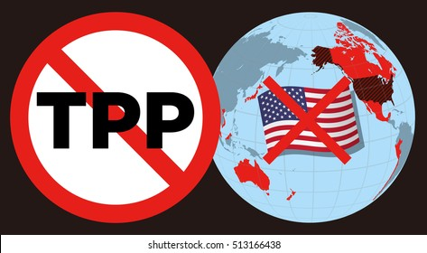 collapse of TPP(trans pacific partnership) caused by USA breakaway