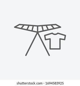Collapsible clothes-horse icon line symbol. Isolated vector illustration of icon sign concept for your web site mobile app logo UI design.
