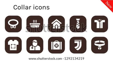 collar icon set 10