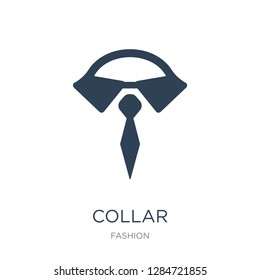 collar icon vector on white background, collar trendy filled icons from Fashion collection, collar vector illustration