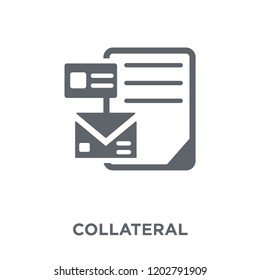 Collateral icon. Collateral design concept from Collateral collection. Simple element vector illustration on white background.