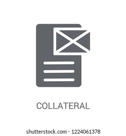 Collateral icon. Trendy Collateral logo concept on white background from business collection. Suitable for use on web apps, mobile apps and print media.