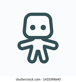 Collectible figure isolated icon, collectible toy linear vector icon