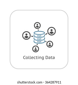 Collecting Data Icon. Flat Design. Business Concept. Isolated Illustration.
