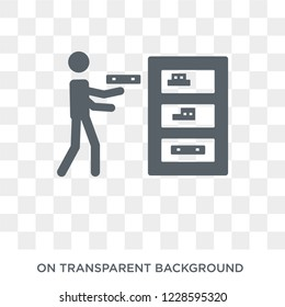 Collecting icon. Trendy flat vector Collecting icon on transparent background from Activity and Hobbies collection.