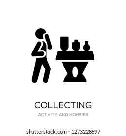 collecting icon vector on white background, collecting trendy filled icons from Activity and hobbies collection, collecting simple element illustration