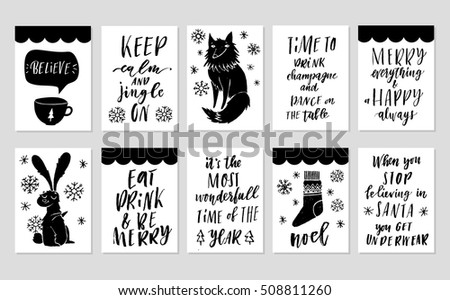 printable christmas cards black and white