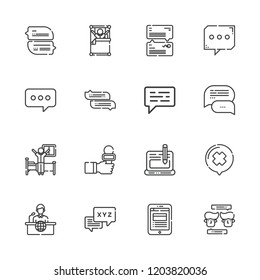 Collection Of 16 Live Outline Icons Include Such As Chat Blog News Reporter