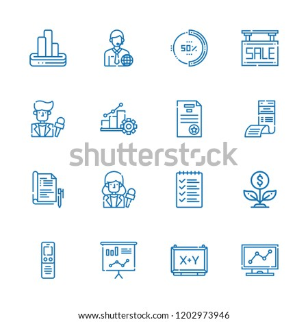 Collection Of 16 Report Outline Icons Include Such As List Dictaphone Secret File