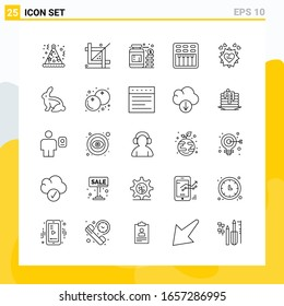 Collection of 25 Universal Line Icons. Icon Set for Web and Mobile.