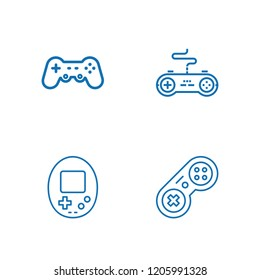 Collection of 4 joypad outline icons include icons such as gamepad