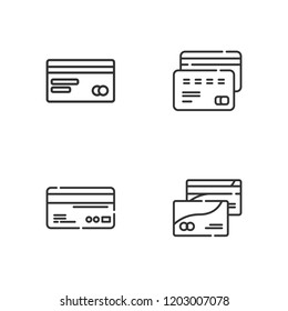 Collection of 4 selling outline icons include icons such as