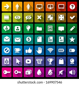 Collection of 49 flat icons - 1