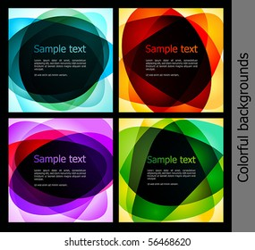 Collection of abstract background. Vector illustration
