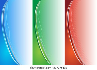 Collection of abstract color background