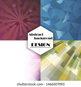 Collection of abstract multicolored backgrounds. vector design