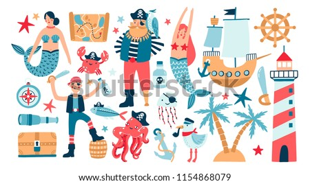 Collection of adorable pirates