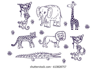 A collection of African animals.