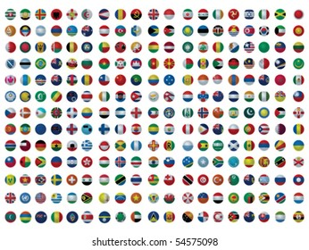 Collection of All The Flags of the Earth Vector