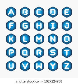 Collection of alphabet letter logo design template. Vector design template element for your company.