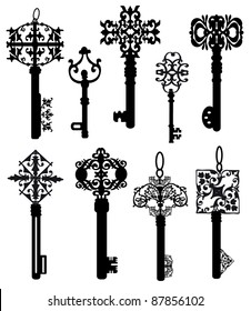 Collection of ancient keys