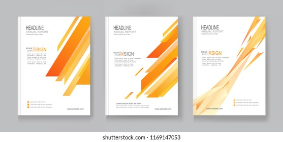 Collection of Annual report Business brochure flyer pamphlet design layout, company profile, magazine, poster, book & booklet cover in A4 size.