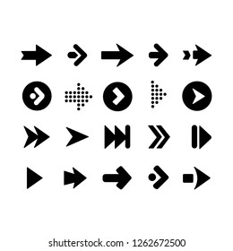 Collection of arrows icons