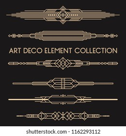 A collection of Art Deco style dividers in vector format.
