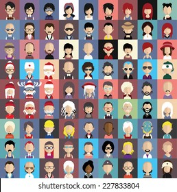 Collection of avatars3  ( 81 Man and woman Characters )