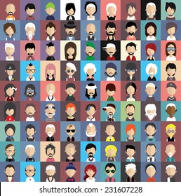 Collection of avatars5  ( 81 Man and woman Characters )