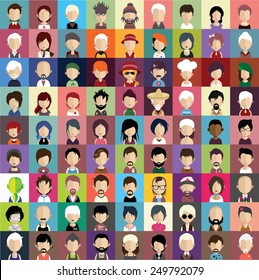 Collection of avatars8 ( 81 Man and woman Characters )