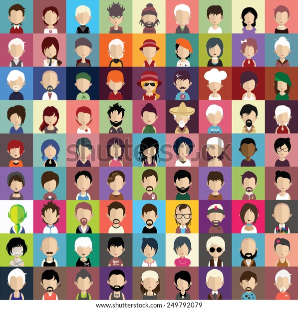 Sammlung von Avataren8 ( 81 Persönlichkeiten und Frauen )