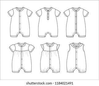 Baby Clothes Template Stock Vectors Images Vector Art