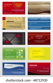 Collection background for business cards
