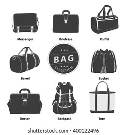 Collection bags Illustration vector set