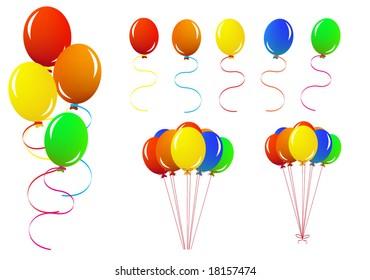 Collection of balloons vector