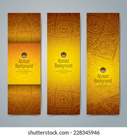 Collection banner design, African art background, vector illustration.
