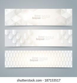 Collection banner design, white background, vector illustration.