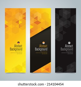 Collection banner design, yellow and black background, vector illustration.
