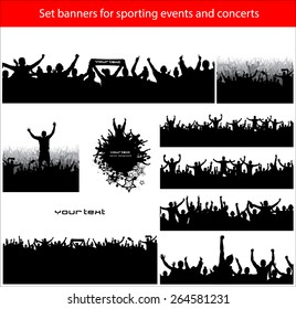 Collection banners for sporting events and concerts