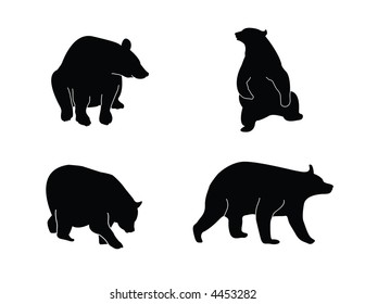 A collection of bear silhouettes